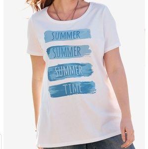 Summertime Tshirt 26W 28W 30W 32W